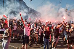 August 1, 2017 - Wroclaw, Poland - Anniversary of the Warsaw Uprising of 1944 against the German-Nazi occupation of Warsaw during World War II in Wroclaw, Poland. (Credit Image: © Krzysztof Kaniewski via ZUMA Wire)