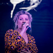 Louise Dearman on stage at West End Live on June 16 2018  in Trafalgar Square, London.