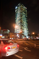 General view of buildings at night in Tel Aviv. Tuesday 4th Jan, 2011. Day five, Day trip to Jerusalem. Train & Travel is a unique ten day program designed for IKMF's instructors, students & guests, interested in combining Krav Maga training with a tour of the holy land. .©2011 Michael Schofield. All Rights Reserved.
