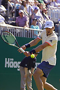 CAPTION CORRECTION  Mischa Zverev (GER) Beats Lukas Lacko (SVK)the Nature Valley International at Devonshire Park, Eastbourne, United Kingdom on 30th June 2018. Picture by Jonathan Dunville.