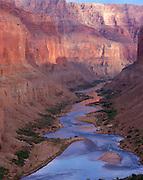 Downstream view from Nankoweap, Colorado River mile 53, Grand Canyon National Park, Arizona, USA; 4 May 2008; Pentax 67II, 200mm lens, polarizer, Velvia 100