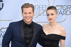 January 27, 2019 - Los Angeles, California, U.S - WYATT NASH AND AUBREY SWANDER during silver carpet arrivals for the 25th Annual Screen Actors Guild Awards, held at The Shrine Expo Hall. (Credit Image: © Kevin Sullivan via ZUMA Wire)