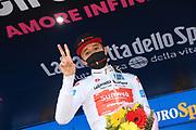Foto Gian Mattia D'Alberto/LaPresse<br /> 22 ottobre 2020 Italia<br /> Sport Ciclismo<br /> Giro d'Italia 2020 - edizione 103 - Tappa 18 Pinzolo a Laghi di Cancano<br /> Nella foto: HINDLEY Jai TEAM SUNWEB maglia bianca<br /> <br /> Photo Gian Mattia D'Alberto/LaPresse<br /> October 22, 2020  Italy  <br /> Sport Cycling<br /> Giro d'Italia 2020 - 103th edition - Stage 18 Pinzolo  Laghi di Cancano<br /> In the pic: HINDLEY Jai TEAM SUNWEB