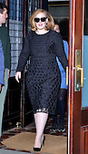 Adele leaves her hotel in New York