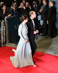 William Duke of Cambridge, Kate Duchess of Cambridge, Bond: Spectre - World Premiere & Royal Film Performance, Royal Albert Hall, London UK, 26 October 2015, Photo by Richard Goldschmidt