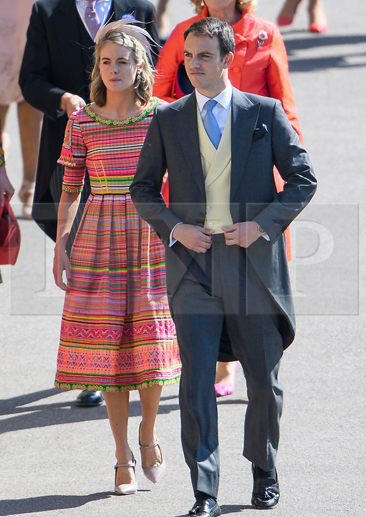 © Licensed to London News Pictures. 19/05/2018. London, UK. CRESSIDA BONAS (left), former girlfriend oaf Prince Harry. Guests arrive at The wedding of Prince Harry, The Duke of Sussex to Meghan Markle, The Duchess of Sussex, at St George's Chapel in Windsor. Photo credit: Ben Cawthra/LNP