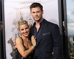 """Elsa Pataky and Chris Hemsworth attend the premiere of """"12 Strong"""" at Jazz at Lincoln Center's Frederick P. Rose Hall in New York"""