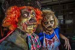November 2, 2018 - Sao Paulo, Brazil - People take part in the annual Zombie Walk. People dress and use make-up to make themselves look like zombies and other characters from horror movies. (Credit Image: © Cris Faga/ZUMA Wire)
