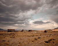 Old mining site outside Rachel, Nevada somewhere near Area 51. Image taken with a Nikon D200 camera and 18-70 mm kit lens.