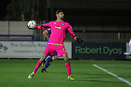 Plymouth Argyle goalkeeper Vincent Dorel during the EFL Trophy match between AFC Wimbledon and Plymouth Argyle at the Cherry Red Records Stadium, Kingston, England on 4 October 2016. Photo by Stuart Butcher.