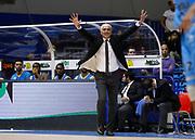Capo dOrlando 15 Novembre 2015<br /> BASKET Lega A Beko<br /> Betaland Orlandina Basket - Vanoli Cremona<br /> NELLA FOTO coach cesare pancotto<br /> FOTO CIAMILLO