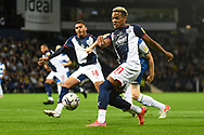 West Bromwich Albion midfielder Grady Diangana (11) takes a shot at goal during the EFL Sky Bet Championship match between West Bromwich Albion and Queens Park Rangers at The Hawthorns, West Bromwich, England on 24 September 2021.