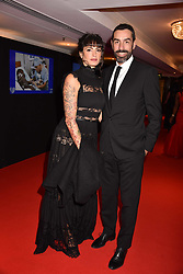 Robert Pires and Jessica Le Marie Pires at the Chain of Hope Gala Ball held at the Grosvenor House Hotel, Park Lane, London England. 17 November 2017.<br /> Photo by Dominic O'Neill/SilverHub 0203 174 1069 sales@silverhubmedia.com