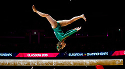 Ireland's Meaghan Smith on the beam during day one of the 2018 European Championships at The SSE Hydro, Glasgow. PRESS ASSOCIATION Photo. Picture date: Thursday August 2, 2018. See PA story SPORT European. Photo credit should read: Jane Barlow/PA Wire. RESTRICTIONS: Editorial use only, no commercial use without prior permission