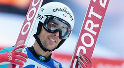 03.01.2016, Bergisel Schanze, Innsbruck, AUT, FIS Weltcup Ski Sprung, Vierschanzentournee, Bewerb, im Bild Vincent Descombes Sevoie (FRA) // Vincent Descombes Sevoie of France reacts after his Competition Jump of Four Hills Tournament of FIS Ski Jumping World Cup at the Bergisel Schanze, Innsbruck, Austria on 2016/01/03. EXPA Pictures © 2016, PhotoCredit: EXPA/ JFK