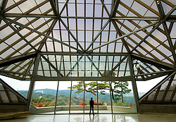 Interior of Miho Museum designed by IM Pei in Japan