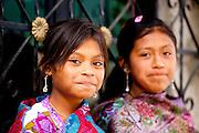 Indigenous girls in Zinacantan