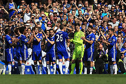 21 May 2017 - Premier League - Chelsea v Sunderland - John Terry of Chelsea is applaud off the pitch on 26 minutes by his team mates - Photo: Marc Atkins / Offside.