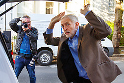 © Licensed to London News Pictures. 26/09/2015. London, UK. Labour Party leader JEREMY CORBYN shuts the boot whilst leaving his house in Islington, north London on Saturday, 26 September 2015, the day before Labour Party conference starts in Brighton. Photo credit: Tolga Akmen/LNP