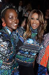Lupita Nyong'o and Iman at KENZO x H&M.<br /> (NYC)