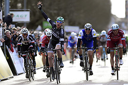 March 7, 2017 - Chalon Sur Saone, France - CHALON-SUR-SAONE, FRANCE - MARCH 7 : BENNETT Sam (IRL) Rider of Team Bora - Hansgrohe wins the sprint of KRISTOFF Alexander (NOR) Rider of Team Katusha - Alpecin, DEGENKOLB John (GER) Rider of Trek - Segafredo and MATTHEWS Michael (AUS) Rider of Team Sunweb during stage 03 of the 75th edition of the Paris - Nice cycling race, a stage of 190 km with start in Chablis and finish in Chalon-Sur-Saone on March 07, 2017 in Chalon-Sur-Saone, France, 7/03/2017 (Credit Image: © Panoramic via ZUMA Press)