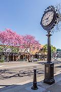Historical Landmark Wm. G. Stedman Jeweler Street Clock on Harbor Blvd in Downtown Fullerton