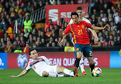 March 23, 2019 - Valencia, Valencia, Spain - Parejo of Spain in action during European Qualifiers championship, , football match between Spain and Norway, March 23th, in Mestalla Stadium in Valencia, Spain. (Credit Image: © AFP7 via ZUMA Wire)