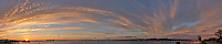 Sunrise Panorama over the Tagus River in Lisbon. Composite of eight images taken with a Leica CL camera and 23 mm f/2 lens (ISO 200, 23 mm, f/8, 1/60 sec). Raw images processed with Capture One Pro and AutoPano Giga.