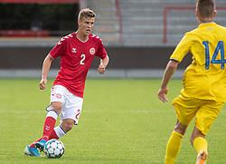 Rasmus Bjerregaard Carstensen (Danmark) under U21 EM2021 Kvalifikationskampen mellem Danmark og Ukraine den 4. september 2020 på Aalborg Stadion (Foto: Claus Birch).