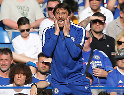 May 6, 2018 - London, Greater London, United Kingdom - Antonio Conte manager of Chelsea reacts during English Premier League match between Chelsea and Liverpool at Stamford Bridge, London, England on 6 May 2018. (Credit Image: © Kieran Galvin/NurPhoto via ZUMA Press)