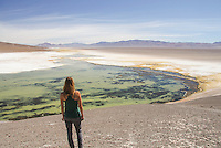 Gazing over the expanse of the high altitude desert of central Chile.