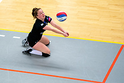 Kim de Wild of Zwolle in action during the first league match between Djopzz Regio Zwolle Volleybal - Laudame Financials VCN on February 27, 2021 in Zwolle.