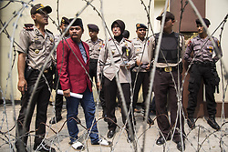 September 4, 2017 - Central Jakarta, Jakarta, Indonesia - Jakarta, Indonesia, 04 September 2017 : Police finally let two students dellegation meet with Myanmar People at the embassy to prevent more chaos. National Amanah Party (PAN) youth generation and Students of Islam Unity afterward held demonstration in front of Myanmar Embassy demanding the stop of killing and slaughtering Rohingya People at Myanmar. (Credit Image: © Donal Husni via ZUMA Wire)
