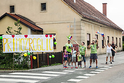 Supporters of Primoz Roglic of Slovenia during 1st Stage of 25th Tour de Slovenie 2018 cycling race between Lendava and Murska Sobota (159 km), on June 13, 2018 in  Slovenia. Photo by Vid Ponikvar / Sportida