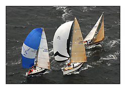 Day 2 of the Bell Lawrie Scottish Series with wild conditions on Loch Fyne for all fleets. Exhilarating and testing racing for Boats and crew....Class 1 9641R Local Hero and GBR4770R Moorish Idol.  .