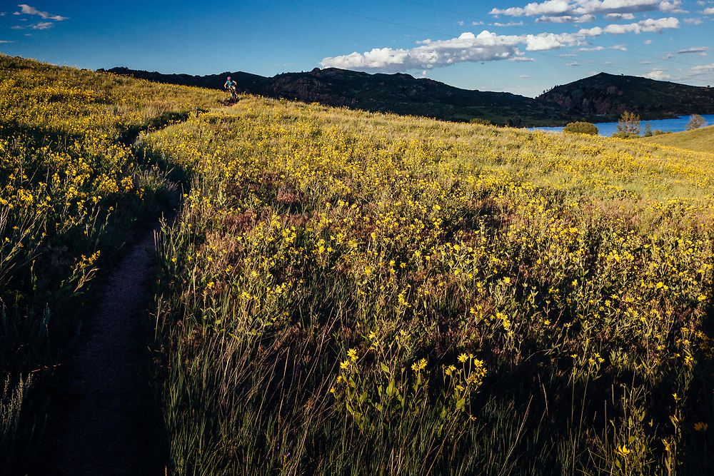 Heather Goodrich rides the Crystal Ridge Trail in Curt Gowdy State Park in Eastern Wyoming.