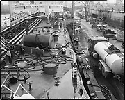 """Ackroyd 18744-09. """"Harper shipping. Cleaning tanks. S. S. Pleioni. March 9, 1974"""" (on Swan Island)"""