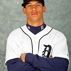 February 28, 2012; Lakeland, FL, USA; Detroit Tigers center fielder Quintin Berry (66) poses for photo day in the rec room at the Detroit Tigers Headquarters.  Mandatory Credit: Derick E. Hingle-US PRESSWIRE