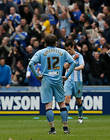 Photo: Steve Bond/Richard Lane Photography.<br />Coventry City v Chelsea. FA Cup 6th Round. 07/03/2009. Aron Gunnarsson hands on hips as Chelsea score no2
