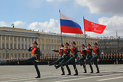 May 9, 2017 - St. Petersburg, Russia - Of The Russian Federation. Saint-Petersburg. Parade of Victory in great Patriotic War. 72-th anniversary. Palace square. In St. Petersburg was held a military parade dedicated to the celebration of the 72nd anniversary of Victory in great Patriotic war. Military equipment. The military unit. the North-Western military district. (Credit Image: © Russian Look via ZUMA Wire)
