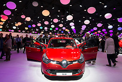 Renault Clio  on display at Paris Motor Show 2012