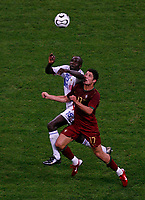 Photo: Glyn Thomas.<br />Portugal v France. Semi Final, FIFA World Cup 2006. 05/07/2006.<br /> France's Lilian Thuram (L) and Portugal's Cristiano Ronaldo.