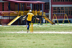 June 30, 2019 - Srinagar, J&K, India - A Kashmiri visually impaired wicket-keeper celebrates the dismissal of a batsman during the match in Srinagar..The first ever blind cricket tournament was organized by J&K Handicapped Association and Disable People's Trust for the visually-impaired players here in Srinagar. The motive behind this tournament is to encourage players to take part in sports events and boost their morals so that they can also make a career in sports. (Credit Image: © Saqib Majeed/SOPA Images via ZUMA Wire)
