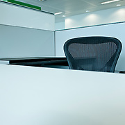 Office interior with chair and desk