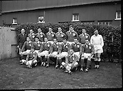 Irish Rugby Football Union, Ireland v New Zealand, Tour Match, Landsdowne Road, Dublin, Ireland, Saturday 7th December, 1963,.7.12.1963, 12.7.1963,..Referee- H Keenen, Rugby Football Union, ..Score- Ireland 5 - 6 New Zealand, ..Irish Team, ..T J Kiernan, Wearing number 15 Irish jersey, Full Back, Cork Constitution Rugby Football Club, Cork, Ireland,..J Fortune, Wearing number 14 Irish jersey, Right Wing, Clontarf Rugby Football Club, Dublin, Ireland,..P J Casey, Wearing number 13 Irish jersey, Right Centre, University College Dublin Rugby Football Club, Dublin, Ireland, ..J C Walsh,  Wearing number 12 Irish jersey, Left Centre, University college Cork Football Club, Cork, Ireland,..A T A Duggan, Wearing number 11 Irish jersey, Left Wing, Landsdowne Rugby Football Club, Dublin, Ireland,..M A English, Wearing number 10 Irish jersey, Stand Off, Landsdowne Rugby Football Club, Dublin, Ireland, ..J C Kelly, Wearing number 9 Irish jersey, Captain of the Irish team, Scrum Half, University College Dublin Rugby Football Club, Dublin, Ireland,..P J Dwyer, Wearing number 1 Irish jersey, Forward, University College Dublin Rugby Football Club, Dublin, Ireland, ..A R Dawson, Wearing number 2 Irish jersey, Forward, Wanderers Rugby Football Club, Dublin, Ireland, ..R J McLoughlin, Wearing number 3 Irish jersey, Forward, Gosforth Rugby Football Club, Newcastle, England, ..W J McBride, Wearing number 4 Irish jersey, Forward, Ballymena Rugby Football Club, Antrim, Northern Ireland,..W A Mulcahy, Wearing number 5 Irish jersey, Forward, Bective Rangers Rugby Football Club, Dublin, Ireland,  ..E P McGuire, Wearing number 6 Irish jersey, Forward, University college Galway Football Club, Galway, Ireland,  ..P J A O' Sullivan, Wearing  Number 8 Irish jersey, Forward, Galwegians Rugby Football Club, Galway, Ireland,..N A Murphy, Wearing number 7 Irish jersey, Forward, Cork Constitution Rugby Football Club, Cork, Ireland,