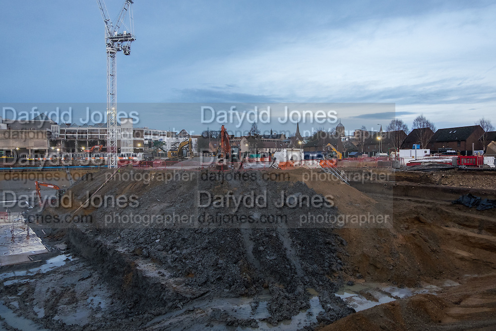 Redevelopment of Westgate shopping centre, Oxford. 23 January 2016