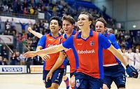ROTTERDAM  - NK Zaalhockey . finale heren: SCHC-Amsterdam (2-2, SCHC wint shoot-outs) . Vreugde bij SCHC na het behalen van de titel. voorop Thijs van Pelt (SCHC)  COPYRIGHT KOEN SUYK