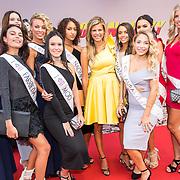 NLD/Amsterdam/20170818 - Première Logan Lucky, finalisten Miss Nederland 2017 met kim Kotter