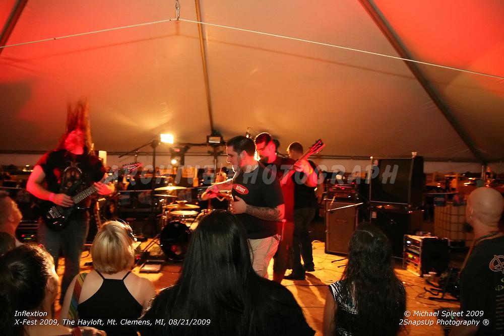 MT. CLEMENS, MI, TUESDAY, SEPT. 1, 2009: Inflextion,  X-Fest at The Hayloft, Mt. Clemens, MI, 09/01/2009. (Image Credit: Michael Spleet / 2SnapsUp Photography)