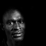 A portrait of David Rudisha, Kenya, who broke his own World Record in winning the Men's 800m at the 2012 Olympics, at the Adidas Grand Prix Press Conference, Hyatt Grand Central, New York ahead of the Adidas Grand Prix at Icahn Stadium, Randall's Island. Manhattan, New York. 24th May 2012. Photo Tim Clayton
